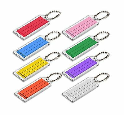 Lucky Line Large Key Tag with Ball Chain Clear with Assorted Color Ins... NO TAX