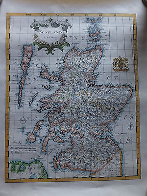 Reproduction - Old Map of Scotland by Rob Morden