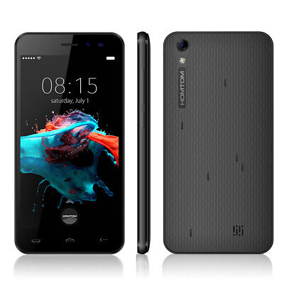 """HOMTOM HT16 Smartphone 4G ouched ScreenAndroid6.0 5.0"""" 1GB 8GB MTK6580 Schwarz H"""