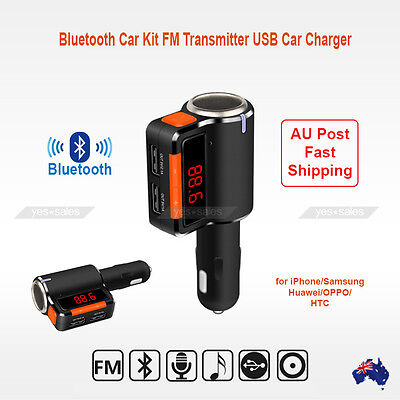Car Kit Bluetooth FM Transmitter Mp3 Player USB Car Charger for iPhone 7 Huawei