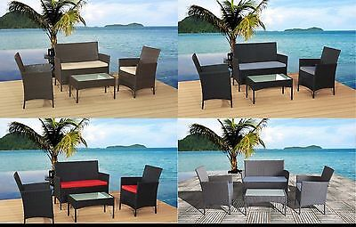 Rattan Garden Furniture Sofa+ Chair+ Table Set Patio Conservatory Outdoor Wicker