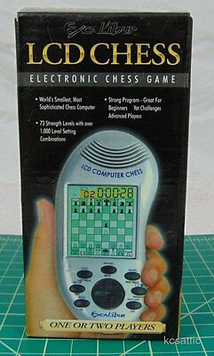 LCD Chess Electronic Chess Game Excalibur Model 375