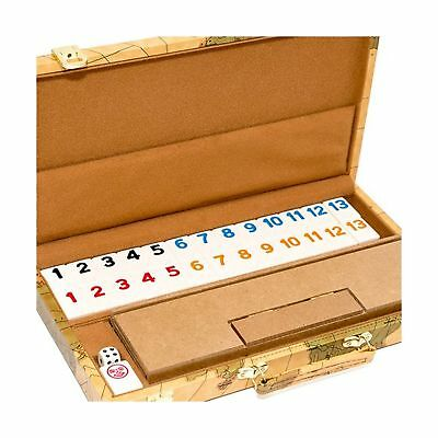 United Nations of New York Deluxe Rummy Set with Wooden Racks NO TAX