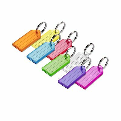 Lucky Line Key Tag with Split Ring; 100 Per Box; Assorted Colors (10400) NO TAX