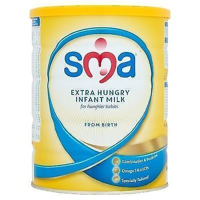 SMA Extra Hungry Infant Milk from Birth 900g 1 2 3 6 Packs