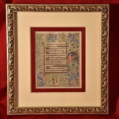2 sided Book of Hours leaf gold on Vellum Paris C.1460 Circle of Coetivy Master