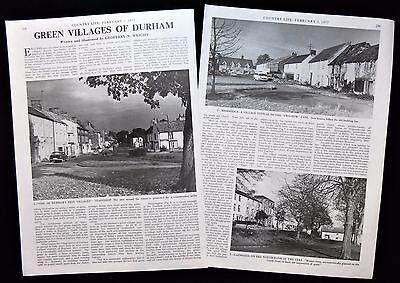 VILLAGES OF COUNTY DURHAM STAINDROP SEDGEFIELD MIDDRIDGE 2pp PHOTO ARTICLE 1977