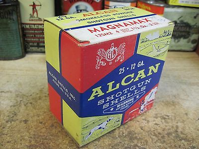 ALCAN MAGNMAX empty 12 GA  SHOTGUN SHELLS shot shell box AMMO MADE USA ORIGINAL