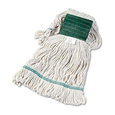 Super Loop Wet Mop Head, Cotton/synthetic, Medium Size, White, 12/carton