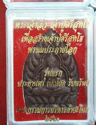 Wealthy Buddha Si Suttho First Generation Naga Thai Amulet Open fortune.