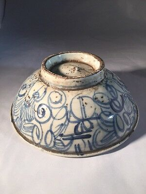 Antique Chinese Blue & White Bowl Ming Dynasty