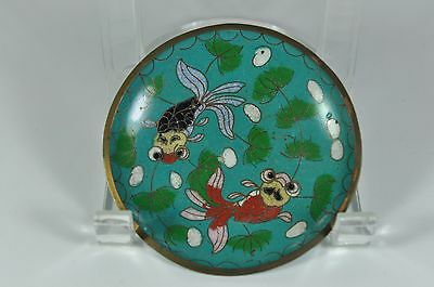 Fine Old China Chinese Cloisonne Enamel Saucer Plate Scholar Art