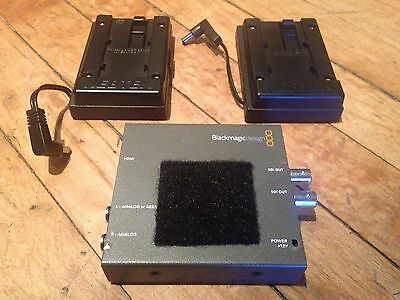 Blackmagic Design HDMI to SDI Mini Converter + 2 Nebtek Panasonic Battery Plates