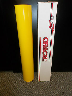 "Oracal 651 1 Roll 24""x10yd(30ft) Gloss Yellow  021 Sign Vinyl"
