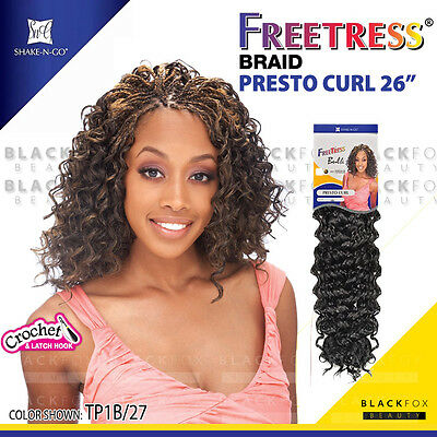 "PRESTO CURL 26"" FREETRESS BRAID Synthetic Crochet Braiding Hair"