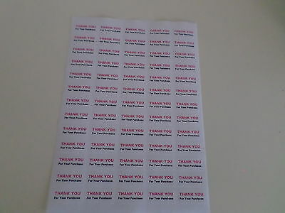 65 X Thank You For Your Purchase Pink /black  Self Adhesive    Small Stickers