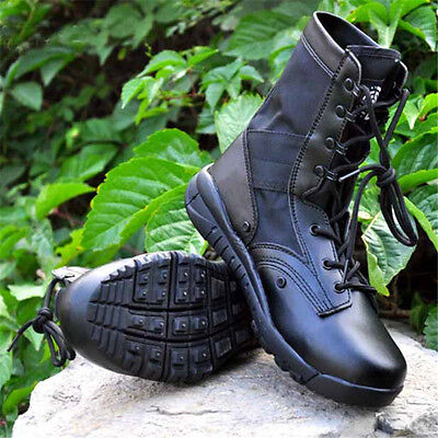 Men's Tactical Combat Boots Outdoor Military Army Desert Hiking patrol Training