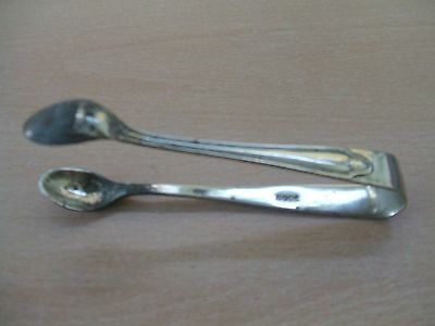Vintage Silver Plated Spoon Style Sugar Tongs - Marked RPNS