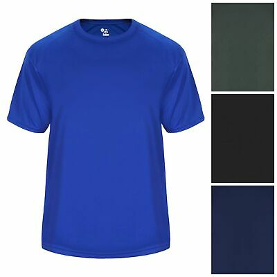 Badger Sports Men's Vent Back Tee Short Sleeve Taining Moisture Wicking T-Shirt