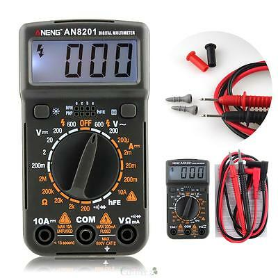 Pocket LCD Mini Digital Multimeter Backlight AC DC Ammeter Voltmeter Ohm Tester