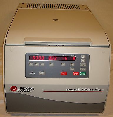 Beckman Coulter Allegra X-22R Refrigerated Centrifuge with F1010 Rotor