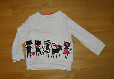 Gymboree Kitty In Pink White & Black Top Girls 2T  Fall Cotton
