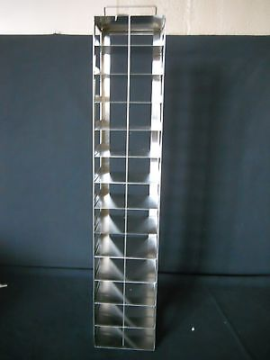 """13 Box S.Steel Vertical/ Chest Freezer Rack for 2"""" High Boxes, Includes Lock Rod"""