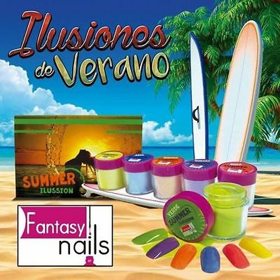 Fantasy Nails Sinaloa - SUMMER  Acrylic Powder - set of 6 Acrylic Dip System