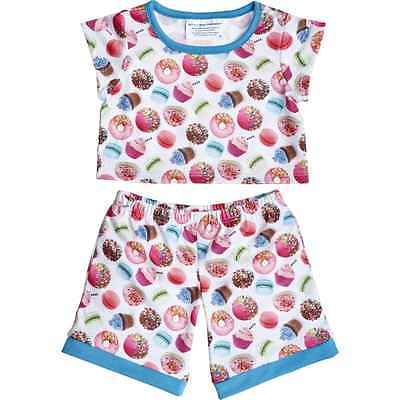 ***BUILD-A-BEAR Workshop  BAKING SWEET TREATS PJ Pajama  2 pc. set - Item 023508