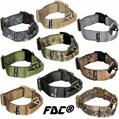 Heavy Duty Dog K9 Tactical Collar Military Handle Medium Large Plastic Buckle