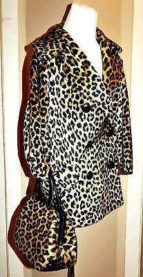 VTG 60s Ronay Leopard Purse & Faux Fur RUSSELL TAYLOR Coat