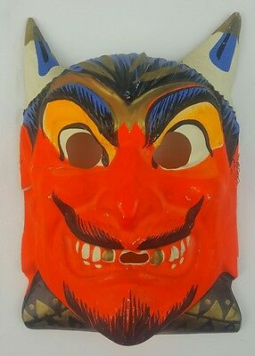Vintage Ben Cooper Halloween Mask 1960s Red Devil USA Poor Condition