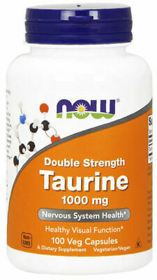 Now Foods Taurine 1000 mg 100 Veg Caps, Amino Reduce Fat & Anxiety