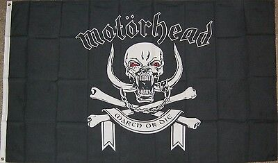 """New 3' by 5' Motorhead """"March or Die"""" Flag. Free Shipping to Canada & USA!"""