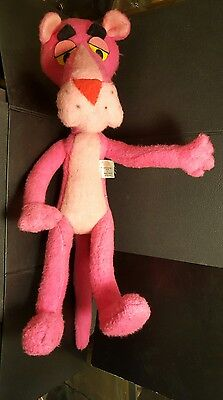 """Pink Panther Doll Stuffed Plush Toy Bendable 1964 17"""" Mighty Star Ltd"""