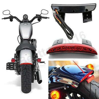 12V Motorcycle Chopper Fender LED Brake Tail Light For Harley Sportster Iron 883