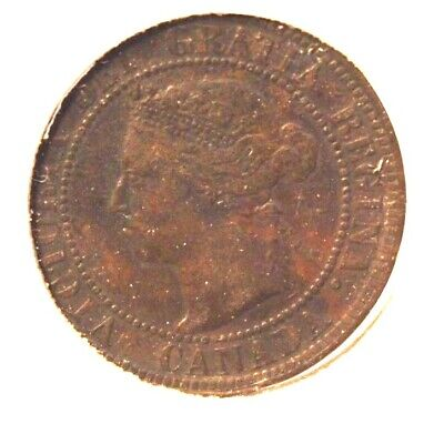 1899 Canada One Cent Bronze Coin with Display Holder Thecoindigger World Estates