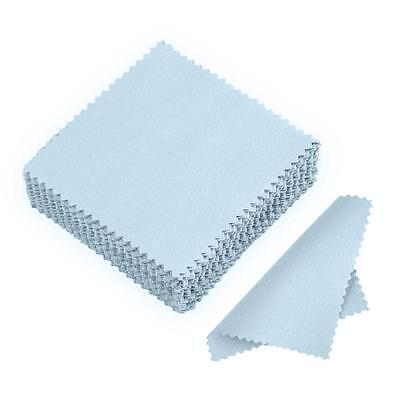 50/100Pcs Clean Cloth Polishing Cloth for Sterling Silver Gold Platinum Jewelry