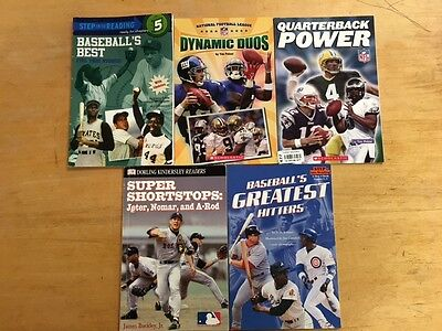 Lot Of 5 Sports Theme Children's Books #2781 FREE SHIPPING