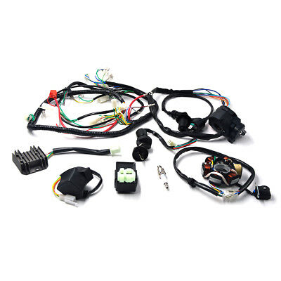 For GY6 150cc ATV Quad Buggy Go kart Electric Harness Wiring CDI Coil Solenoid
