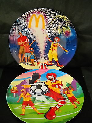 "McDONALD'S PLASTIC COLLECTOR PLATES 2006 UNUSED SET OF 2-9"" PLATE"