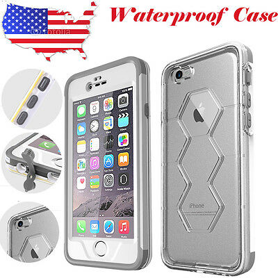 US FAVOLCANO Waterproof Shockproof Crystal Case Cover For Apple iPhone 6 6S Plus