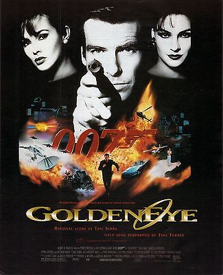 GOLDEN EYE 007 JAMES BOND  Soundtrack - Billboard Poster Ad 11/18/95 Tina Turner