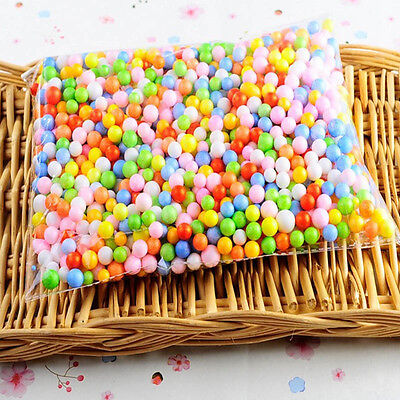 Newest Mini Assorted Colors Polystyrene Styrofoam Filler Foam Beads Balls Crafts