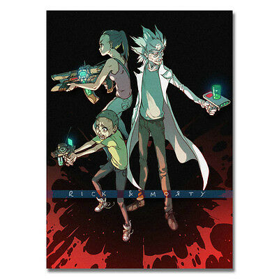 Rick and Morty Cartoon Art Silk Poster Wall Decoration 13x18 inch 003