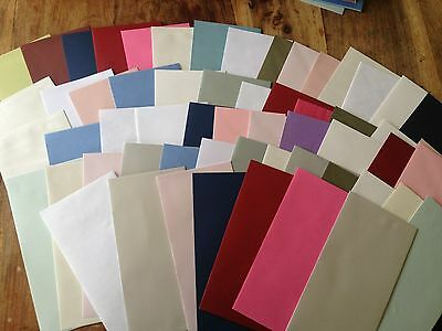 DL Envelopes x 50 - Assorted mixed pack- metallic, white, coloured and textured
