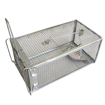 Hunting Trap Cage Metal Small Animal Catch Alive Mouse Rabbit Snares Catch Cage