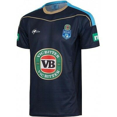 NRL 2017 State Of Origin - New South Wales Blues - Training Tee - Small To 3XL