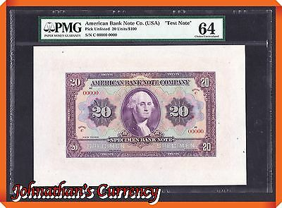 "JC&C -Extremely Rare & Unique- American Bank Note Co.(USA) ""Test Note"" - CU 64"