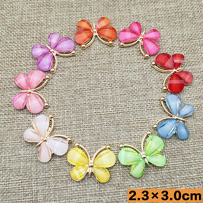 Hot DIY 5 PCS Colorful Butterfly Flatback Scrapbooking for Phone/wedding, Crafts